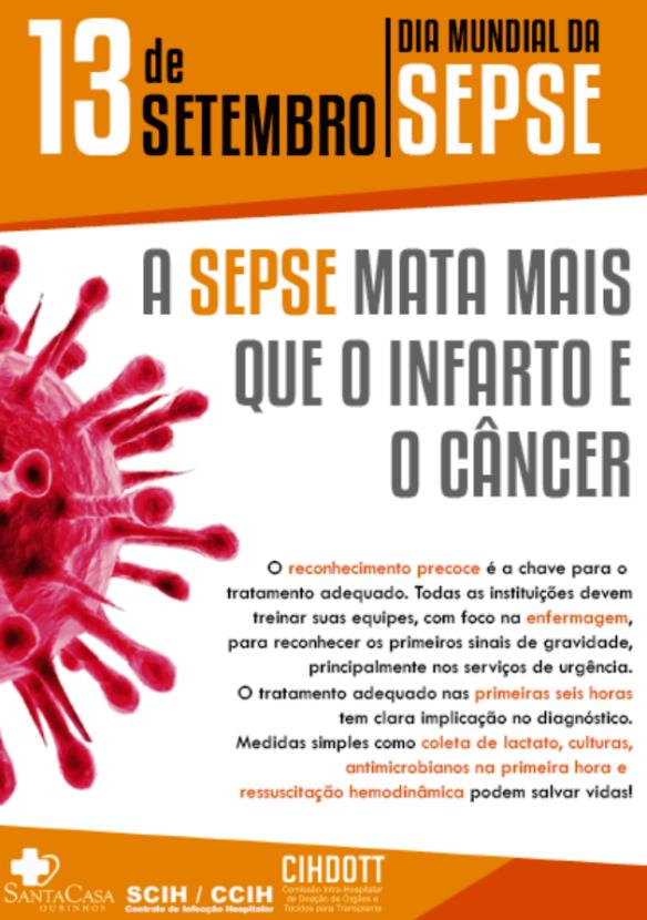 13 de Setembro – Dia Mundial da Sepse | Blog da Santa Casa de Ourinhos